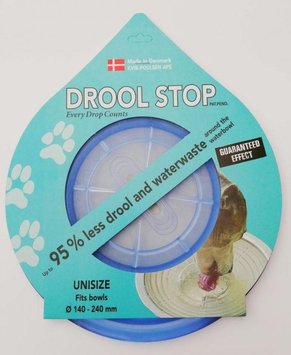 Drool Stop blå transparent i emballage