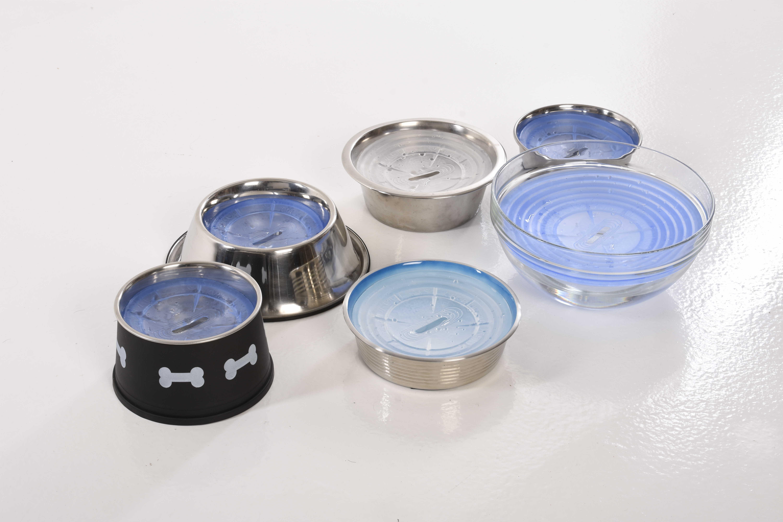 Drool Stop kan tilpasses forskellige skåle